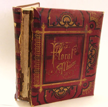 Victorian Photo Album Embossed Cover Floral Pages AS IS No Photos  For C... - $55.00