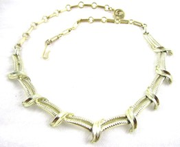 Classic Gold Plated Vintage Thick Chain Link Styalized Choker Necklace*1... - $16.82