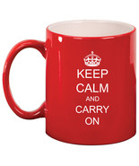 11oz Ceramic Coffee Tea Mug Glass Cup Keep Calm and Carry On - $14.99