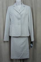Le Suit Skirt Suit Sz 14 Sand Country Club 2 Piece Business Cocktail Ski... - $79.17