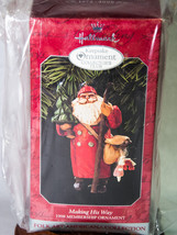 Hallmark Keepsake Membership Ornament 1998 Making His Way Folk Art Ameri... - $7.50