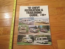 Chevrolet Trailering Guide 1981 Chevy Car truck Dealer Showroom Sales Br... - $9.99