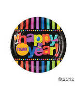 Bright New Year's Paper Dinner Plates - $11.49