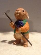 Dept 56 Easter Figurines - Gardening Rabbit with Hoe - EUC - $11.95
