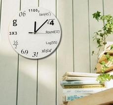 New Wall Clock Modern Design Mathematic Maths Equation Wall Time Decor - $15.00