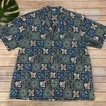 Royal Creations Vintage Hawaiian Shirt Size XXL Classic Blue Pineapples ... - $22.96