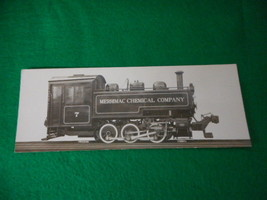Vintage Merrimac Chemical Company Railroad Engine No.7 Photo and Specs - $15.79