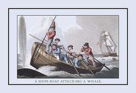 A Ship's Boat Attacking a Whale by J.H. Clark - Art Print - $19.99+