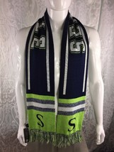 Cityhunter Seattle Seahawks Scarf Size Large OSFA Navy/Lime Green/White - $13.86