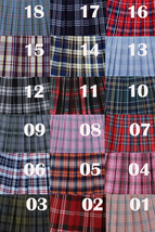 PINK Plaid Skirt Pleated Women Girl Mini Plaid Skirts Plus Size Pink Skirt image 4
