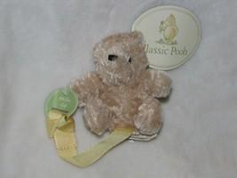 Disney Classic Winnie the Pooh Stuffed Animal Baby Pacifier Clip Reborn ... - $29.69