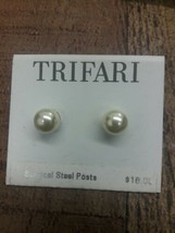 Trifari vintage new old Stock sample stud earrings - $6.93