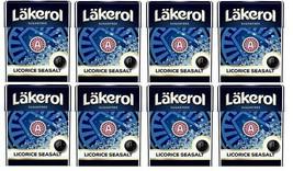 Cloetta Läkerol Sugar Free Licorice Seasalt candy 25g * 8 pack    7oz - $19.80