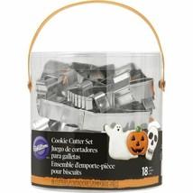 Wilton 18 Pc Metal Cookie Cutter Set Halloween - $11.99