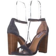 Steve Madden Carrson Ankle Strap Dress Sandals 689, Blue Multi, 10 US - $37.43