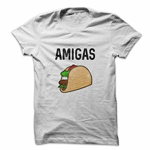 Mad Over Shirts Amigas Foodie Hunger Lunch Chipotle Meal Party Men's Small White