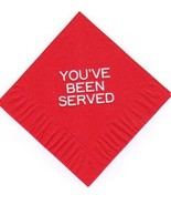 YOU'VE BEEN SERVED 50  printed cocktail beverage napkins wedding shower - $10.84+