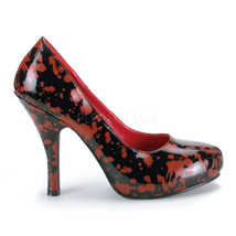 "FUNTASMA Bloody-12 Series 5"" Heel Costume Shoe - Black Patent-Red - $36.95"