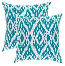 TreeWool, (2 Pack) Throw Pillow Covers Ikat Ogee Diamond Accent Decorati... - $15.99