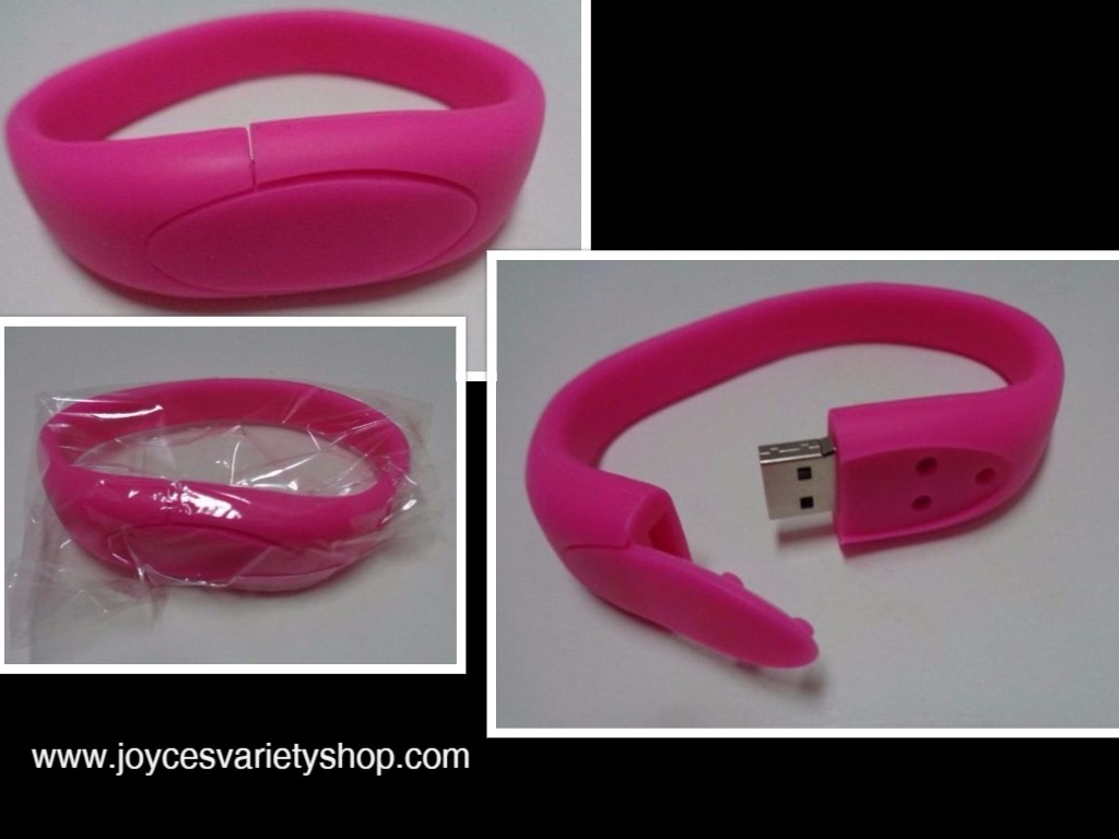 PINK 16GB USB 2.0 Memory Stick Flash Pen Drive Wristband Bracelet