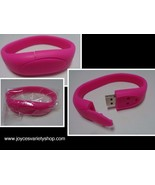PINK 16GB USB 2.0 Memory Stick Flash Pen Drive Wristband Bracelet - $10.50