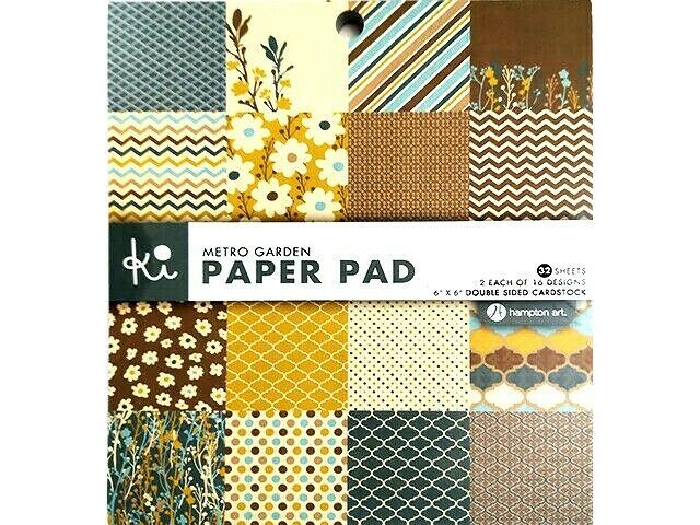 Hampton Art Ki Metro Garden 6x6 Inch Paper Pad #WM0996