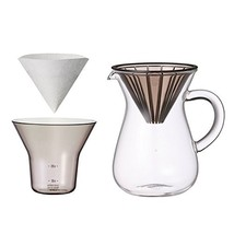 "300 ml 2 Cups Carafe Coffee Set with 20 Filters by Kinto for ""Slow"" Coffee - $42.30"