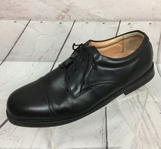 Bostonian Strada Mens Size 15 WIDE Black Leather Shoes Cap Toe Oxford 22711 - $40.63