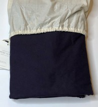 Restoration Hardware Garment-Dyed Percale Duvet Cover Twin Aubergine NEW... - $99.99
