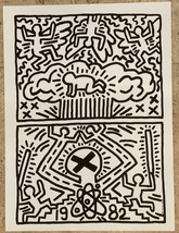 Keith Haring Nuclear Disarmament Giclee on Paper Open Edition Print - $445.50