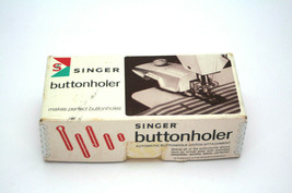 Vintage Singer Buttonholer Automatic Buttonhole Stitch Attachment 489510... - $19.79