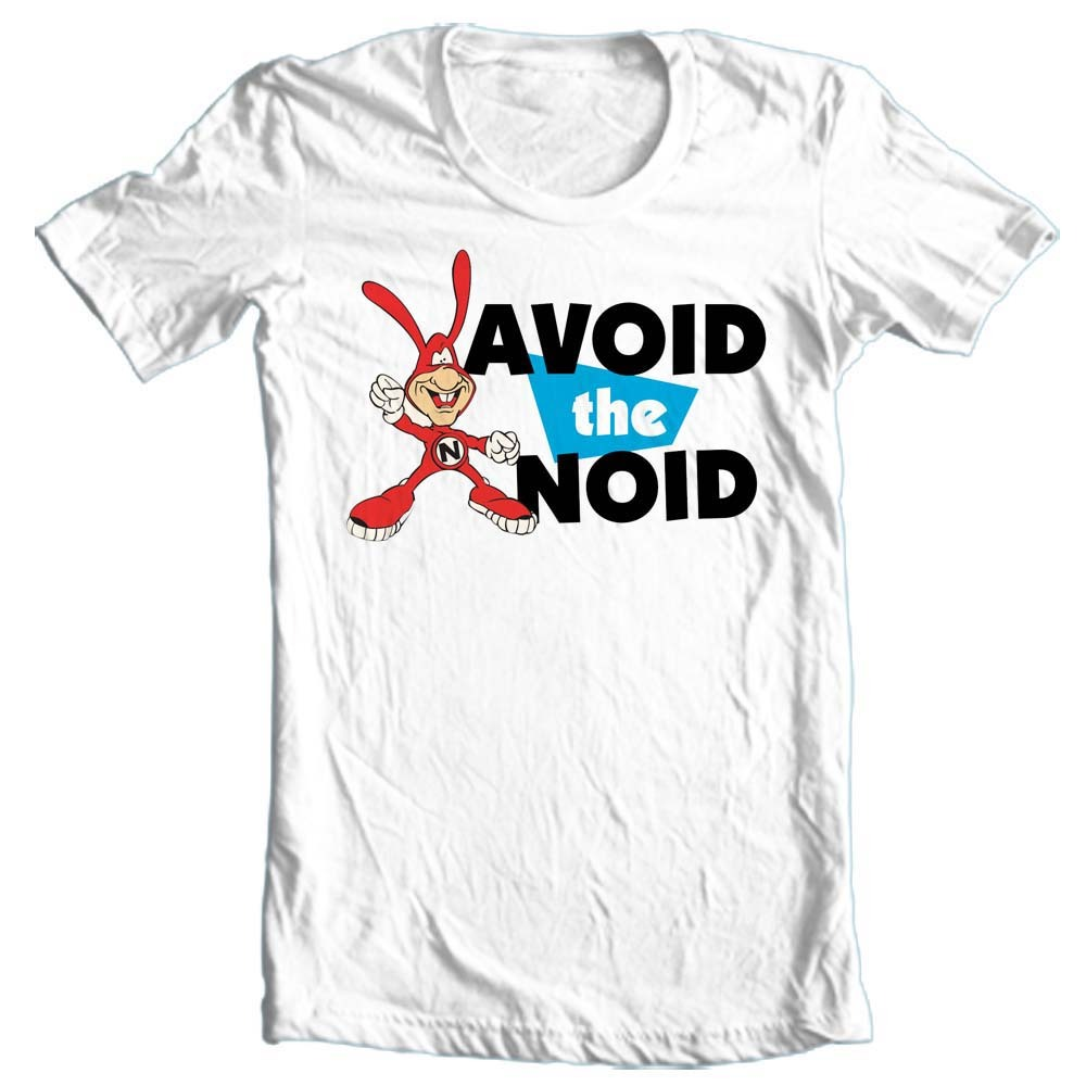 Avoid the noid dominos 80 s retro white