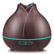 URPOWER 400ml Wood Grain Essential Oil Diffuser Running 10+ Hours...  - $42.22