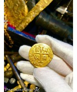 "PERU 8 ESCUDOS 1711 ""1715 FLEET SHIPWRECK"" RAW PIRATE GOLD COINS TREASURE  - $15,000.00"