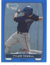 2012 Bowman Draft Chrome Blue Refractors #BDPP93 Tyler Tewell Braves NM-... - $5.00