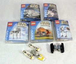 LEGO MINI BUILDING STAR WARS 4488, 4484, 4486, 4491 W/BONUS Y-WING & TIE... - $74.24