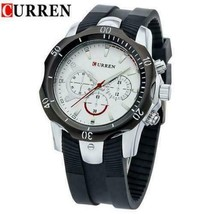 CURREN 8163 Vintage Silicone Waterproof Quartz Sport Watch - $24.95