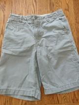 gap kids boy's shorts size 16R gray color zip up adjustable waist flat front EUC - $17.56