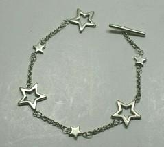 """Tiffany & Co Sterling Silver Star Bracelet Vintage 7"""" Vintage - $260.93"""