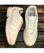 Adidas ZX Flux White Women Athletic Shoe Gum Bottom Sneakers EH3172 Clea... - $39.59