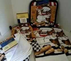 7 piece Little Chef kitchen Towel Set hand towels washcloths potholders ... - $14.03
