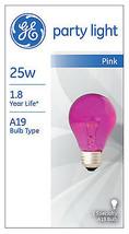 25-Watt Transparent Pink Party Bulb - Pack of 6 - $26.72