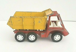 Vintage 1960's Hubley Red Yellow Metal Dump Truck Toy - $14.95