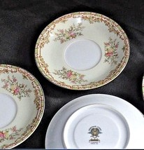 Noritake China Nana Rosa Pattern # 682 Tea Saucers AB 336-B Vintage