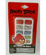 2X Angry Birds Novelty Press On Artificial Nails Party/ Dress-Up Fun (20... - $1.48