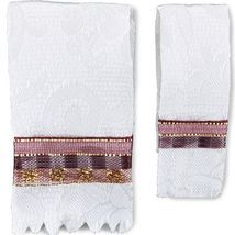 1:12 Bath Towel Set w Maroon Trim 1.771/5 Reutter Dollhouse Miniature - $11.40