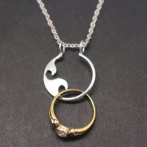 Silver Wave Ring Holder Necklace - $42.00