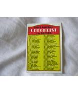 1972 TOPPS BASEBALL CARD#4 CHECKLIST 1ST SERIES CLEAN F/B EX-/EX++ - $3.00