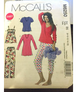 McCalls M6250 Misses Top Nightshirt Pants Size 8-16 U/C Sewing Pajamas P... - $12.71
