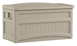 Suncast DB7500 Capacity Taupe Deck Storage Box, 73 gallon - $142.62